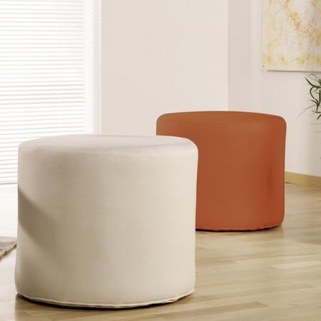 Natural Home Products Tall Round Cushion Stools Natural Organic
