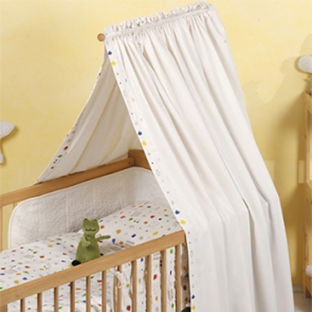 Canopy Drapes for Cots & Natural Home Products - Baby Cot Drapes Canopy Drapes Nursery ...