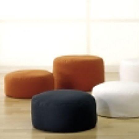 round floor and meditation cushions