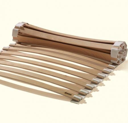 slat bed base beech wood flexible roll out