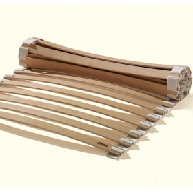 Slat Bed Base ~ Beech Wood ~ Flexible Roll Out