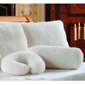 Roll Shaped Lambswool Neck Support Pillows