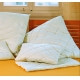 Organic Cotton Bed Pillows - Quilted Percale Covers