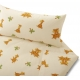 Giraffe and Teddy - in Sateen or Brushed Cotton