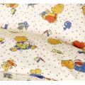 Bobo Bunny and Teddy Bear - in Sateen Cotton
