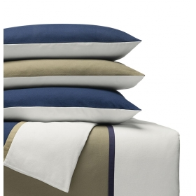 Brushed Cotton Duvet Cover Sets, with Braiding - Edelbiber Mit Zierband from Cotonea - Organic Cotton, With Band