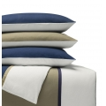 Brushed Cotton Duvet Cover Sets, with Braiding - Edelbiber Mit Zierband fron Cotonea - Organic Cotton, With Band