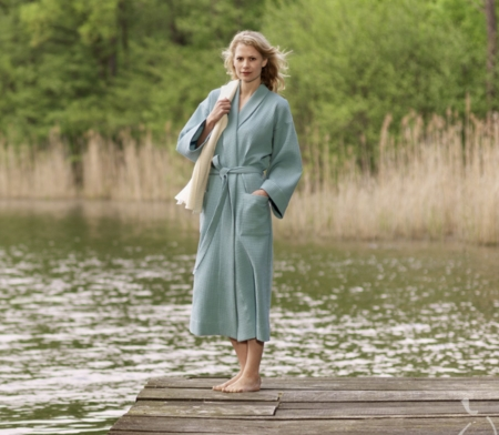 Natural Home Products - Lightweight Dressing Gowns | Waffle Weave ...