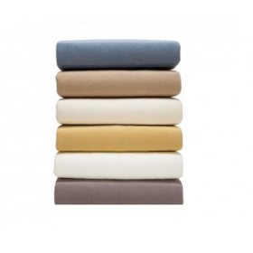 Double Jersey Knitted Sheets - Fitted Sheets with Stretch - Organic Cotton - In 6 colours