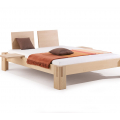 Nuveo Maxi 120 x 200 bed frame, back support and Natural bed slats